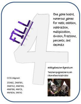 Math Games: Fill Four Array