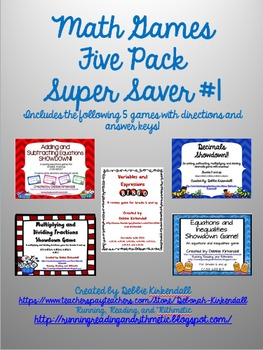 Math Games Super Saver Pack #1