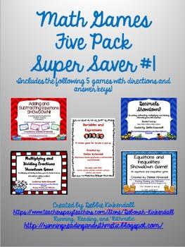 Math Games Super Saver Pack #1