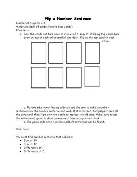 Math Games (Flip a Card)