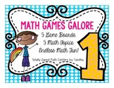 Math Games Galore Gr. 1 five board games, five 1st grade m