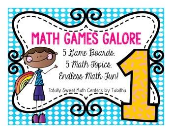 Math Games Galore Gr. 1 five board games, five 1st grade m
