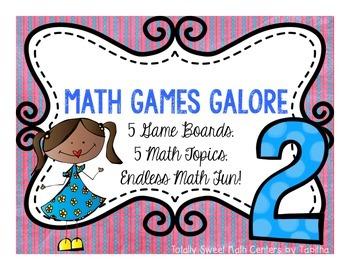Math Games Galore Gr. 2  five board games, five  2nd grade math concepts!
