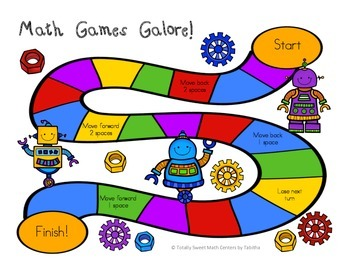 Math Games Galore Gr. 3  5 Board games, 5 3rd grade math concepts!