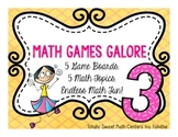 Math Games Galore Gr. 3  5 Board games, 5 3rd grade math c