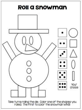 Math Games...Geometric Shapes...Winter Themed