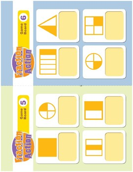 Math Games (Grades 1-2): Fraction Action (Identifies Fractional Parts)