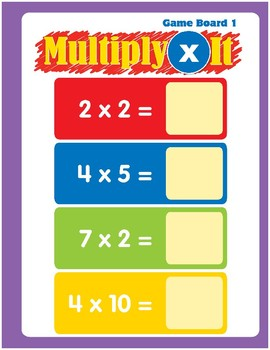 Math Games (Grades 1-2): Multiply It (Multiplication Facts)