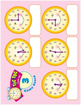 Math Games (Grades 1-2): Tic Toc Cover-Up (Time to the Half- & Quarter-Hour)