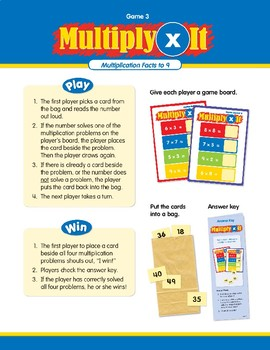 Math Games (Grades 2-3): Multiply It (Multiplication Facts to 9)