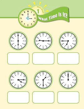 Math Games (Grades 2-3): What Time Is It? (Time to the Half- & Quarter-Hour)