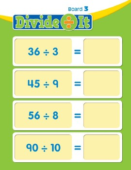 Math Games (Grades 3-4): Divide It (Division Facts to 12)
