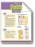 Math Games (Grades K-1): Fraction Action (Reads Fractions)