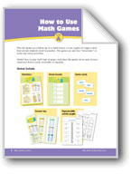 Math Games (Grades K-1): How to Make & Use Games
