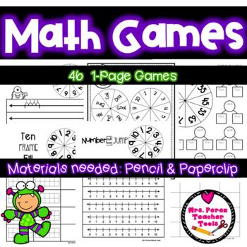 Math Games Growing Bundle