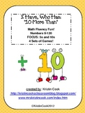 Math Games - I Have, Who Has - 10 More Than, Up to 120 – 4 Sets!