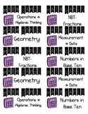 Math Games Labels-Common Core Aligned