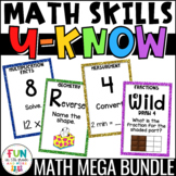 Math Games Mega U-Know Bundle | Math Test Prep Review Games