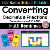 Math Games: Math Dominoes: Converting Decimals to Fraction