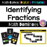 Math Games: Math Dominoes - Identifying Fractions (Digital & Printable)