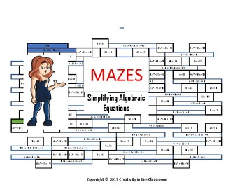 Math Games: Algebra 1 - Evaluating Expressions Mazes
