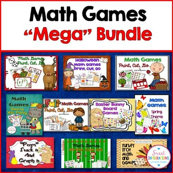 MATH GAMES FOR CENTERS Mega Bundle