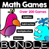 Mega Math Game Bundle Math Facts Addition, Subtraction, Multiplication, Division