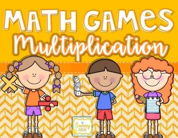 Math Games: Multiplication Bundle of 3