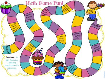 Math Games: Multiplication, Division, Rounding & Place Value! Boards Included!
