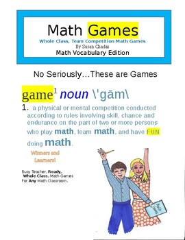 Math Games, No Seriously...These Are Games. Whole Class Team Competition Games