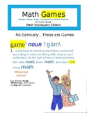 Math Games, No Seriously...These Are Games. Whole Class Te