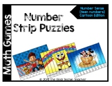 Math Games: Number Strip Puzzles [Cartoon edition]
