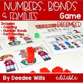 Math Games: Numbers, Number Bonds, and Fact Families | December(editable)