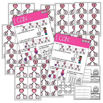 Math Games: Numbers, Number Bonds, and Fact Families | February(editable)