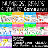 Math Games: Numbers, Number Bonds, and Fact Families | Bundle