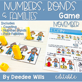 Math Games: Numbers, Number Bonds, and Fact Families | November (editable)