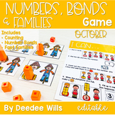 Math Games: Numbers, Number Bonds, and Fact Families | October (editable)