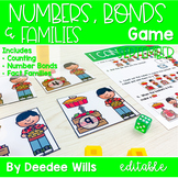 Math Games: Numbers, Number Bonds, and Fact Families | September (editable)