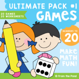 Math Games - Numbers to 20 Ultimate Pack 1 - Print and Pla
