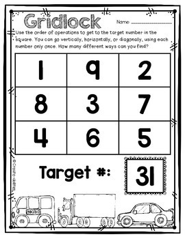 Order of Operations Math Game