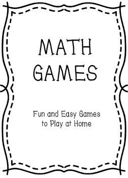 Math Games - Parent Handout, Great Back-to-School Handout!