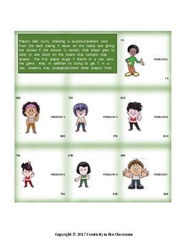 Math Games: Place 7 - Rounding to the Nearest Ten Grades 3-5