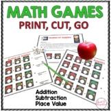 MATH GAMES - Print, Cut, Go Apple Theme (MATH CENTERS)