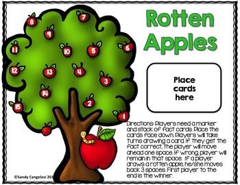 MATH GAMES - Print, Cut, Go 3rd Grade (MATH CENTERS WITH APPLE THEME)