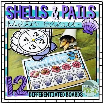 Beach Math Games: Seashells and Beach Pails