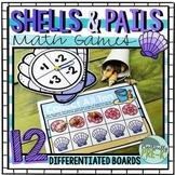 Beach Math Games: Seashells and Beach Pails