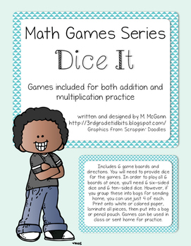Math Games Series - Dice It for Addition and Multiplication