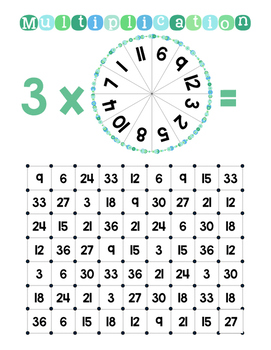 Math Games Series - Multiplication Dot Games