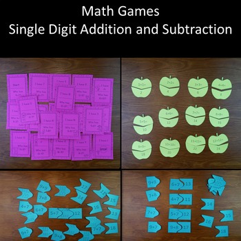 Math Games: Single Digit Addition and Subtraction