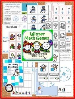 Winter Math Games for PreK and Kindergarten